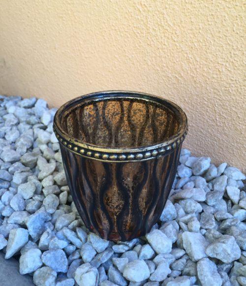 Svícen:Váza antiq zlatý mercury s vlnkami
