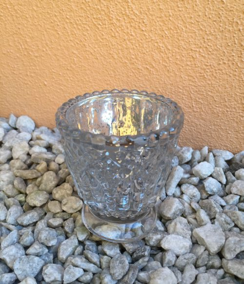 Svícen:Váza stříbrný mercury se zdobením